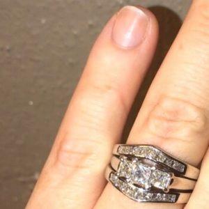 14k white gold diamond wedding ring